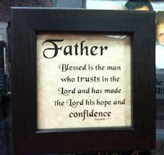 """""""Father"""" plaque/Mardel"""