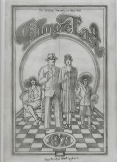 """For Sale on - """"The Original Fillmore East pencil drawing for the 1971 Program """", Vellum, Pencil by David Edward Byrd. Offered by ARDT gallery. Animal Drawings, Cute Drawings, Pencil Drawings, Fillmore East, Woodstock Music, Pencil Drawing Tutorials, Rock Posters, Museum Collection, Museum Of Modern Art"""