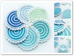 Made in K-town: New Spiral Coasters #crochet