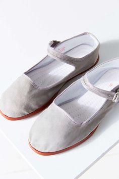 Cotton Mary Jane Flat