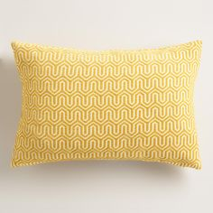 A stunning geo design in a rich golden-yellow hue gives our exclusive throw pillow plenty of chic style. Covered in textured chenille, this unique accent adds tons of comfort while dressing up your sofa or daybed.
