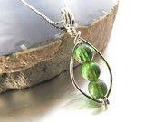 Wire wrapped jewelry.