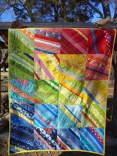 Kat & Cat Quilts: Rainbow Mix Tape {January do. Good Stitches}