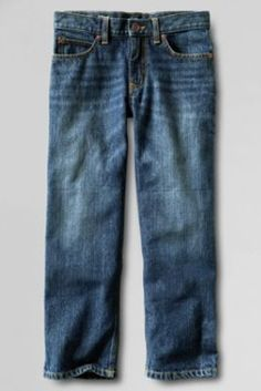Finally! A husky pants that fit him, without the extra bulk!   Boys' Iron Knee Relaxed Fit Denim Jeans from Lands' End