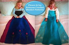 439757ca30fd Ana and Elsa blanket dress idea! No link, picture only