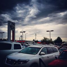 Stormy day at the dealership. #clouds #rain #storm #nature #landscape #bored @ #work