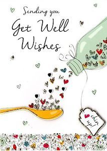 Get Well Wishes Greeting Card Second Nature Just To Say Cards ...