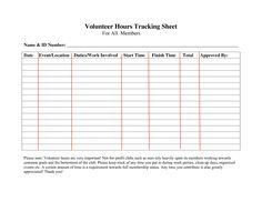 Service hours log sheet Printable | Community Service Hours Chart ...