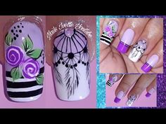 Decoración de uñas ROSAS y ATRAPASUEÑOS en tonos MORADOS/Haremos Uñas con degradé - YouTube Merry Christmas Gif, Nails Inspiration, Pedicure, Nail Designs, Nail Art, Android, Stickers, Art Nails, Nail Bling