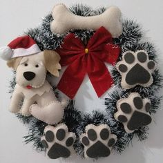 Diy dog christmas gifts ideas ideas Best Picture For diy gifts harry potter For Your Diy Christmas Presents, Dog Christmas Gifts, Holiday Crafts, Christmas Wreaths, Christmas Decorations, Christmas Ornaments, Wreath Crafts, Felt Crafts, Wreath Ideas