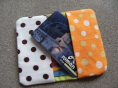 Porte-cartes Creation Couture, Craft Fairs, Couture Fashion, Sewing Projects, Pattern, Crafts, Deco, Patchwork Ideas, Pouch