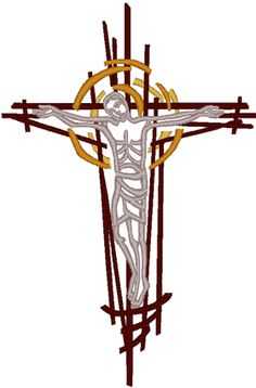 Modern Crucifixion #1 Embroidery Design