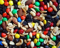 Trail Mix. Best trail snack ever, you can even customize it the way you like it. Just be careful with the M's, they can be rock hard in cold weather.