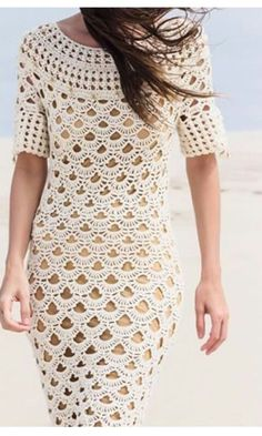white long crochet dress @roressclothes closet ideas #women fashion outfit #clothing style apparel