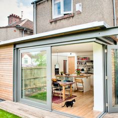 Image 32 - Kitchen Extension Design Ideas, Pictures, Remodel, and Decor Extension Veranda, Glass Extension, Rear Extension, Bungalow Extensions, House Extensions, Garden Room Extensions, Extension Designs, Extension Ideas, Glass Room