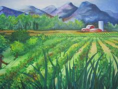 Big Valley Farm Painting by Karen Stark - Big Valley Farm Fine Art Prints and Posters for Sale