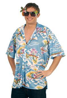 Disfraz de Hawaiano Camisa para adulto