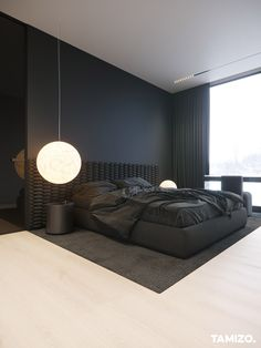 Black Bedroom Design, Room Design Bedroom, Home Room Design, Home Decor Bedroom, Home Interior Design, Tamizo Architects, Minimal House Design, Modern Architecture House, Architecture Design