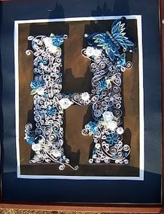 quilled monogram #quilling #monogram... To me this is one of the most beautiful crafts there is... Carol