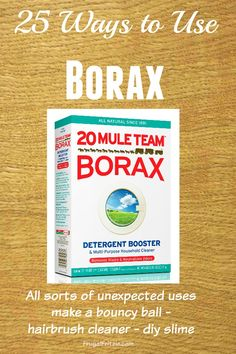 Use What You Have: A handy list of 25 Ways to use Borax via Frugal Fritzie.