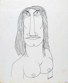 """Ettore Scola, """"131"""", dessin original à l""""encre de chine, non daté, signé, 21x29.7 cm."""