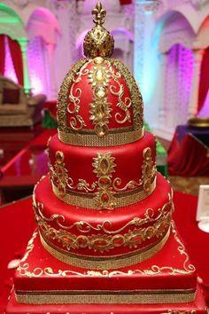 80 Inspiring Indian Wedding Cakes You May Like Wedding Cake Red, Indian Wedding Cakes, Elegant Wedding Cakes, Beautiful Wedding Cakes, Gorgeous Cakes, Wedding Cake Designs, Pretty Cakes, Amazing Cakes, Indian Weddings