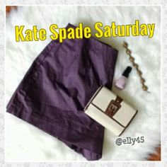 "Kate Spade Saturday Plum Shorts Awesome shaping with darting on front and back to enhance your shape. 3"" inseam, back hidden zipper with hook and eye closure for a sleek smooth silhouette. Side pockets are zippered so you don't lose a beat. Smoke/pet-free home. ? Fast Shipping ?  Thanks for browsing my closet! kate spade Shorts"