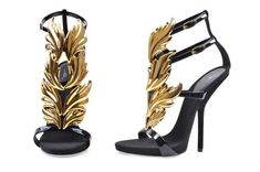 Giuseppe Zanottis Fire-Wing sandals designed by Kanye West Giuseppe Zanotti Heels, Shoe Boots, Shoe Bag, Designer Sandals, Fashion Heels, Kanye West, Your Shoes, Other Accessories, Gladiator Sandals