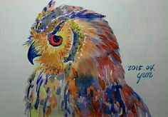 Owl Art, Painting, Painting Art, Paintings, Painted Canvas, Drawings