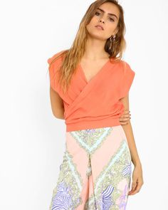 Top with Overlapping Neckline