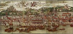 The famous map of Venice published by Erhardum Reüwich de Trayecto et Bernhard von Breydenbach in the 15th century.