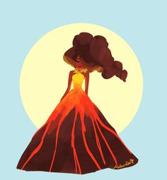 pele, the goddess of volcanoes, for a late sketch_dailies