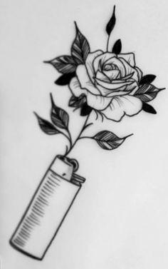 Bild über Kunst in 🌙 von Madness on We Heart It – Pedro – Trippy Drawings, Mini Drawings, Dark Art Drawings, Tattoo Design Drawings, Art Drawings Sketches Simple, Pencil Art Drawings, Tattoo Sketches, Tattoo Designs, Rose Drawings