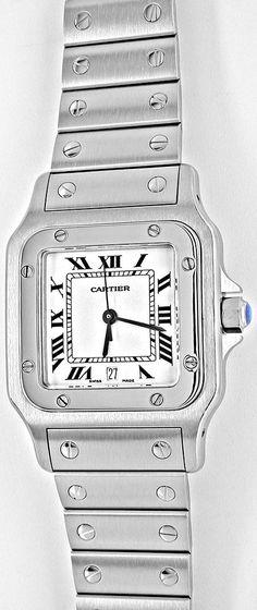Foto 2, Cartier Santos Galbee Herren-Armbanduhr ST Topuhr Neuz., U1968