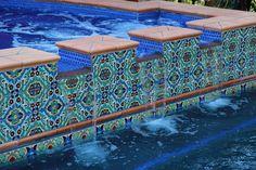 Cool pool tile - Spanish home in So. California