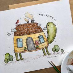 3,800 отметок «Нравится», 28 комментариев — Tania Samoshkina (@tania_samoshkina_art) в Instagram: « sweet home »