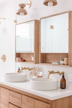neutral Bathroom Decor Bathroom Renovation Tips from a Designer Who Perfected Her Gut Remodel Neutral Bathroom, Bathroom Inspo, Bathroom Inspiration, Modern Bathroom, Master Bathroom, Bathroom Ideas, Bathroom Designs, Wood Bathroom Mirror, Small Bathroom Furniture