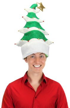Springy Christmas Tree Funny Costume Hat