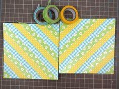 Popper & Mimi Paper Crafts: DIY Washi Tape Chevron Tutorial