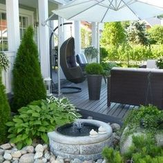 33 landscape design ideas you can implement before the start of autumn! Outdoor Rooms, Outdoor Gardens, Outdoor Living, Outdoor Decor, Patio Pergola, Backyard Landscaping, Rooftop Garden, Balcony Garden, Landscape Design