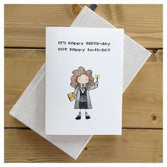 Witch Birthday Card // magical birthday, wizard card, witch card, happy birthday… – Birthday Presents Harry Potter Karten, Harry Potter Cards, Cumpleaños Harry Potter, Harry Potter Friends, Birthday Quotes Funny For Him, Happy Birthday Funny, Funny Birthday Cards, Card Birthday, Funny Happy