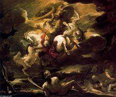 luca giordano | Caída de Faetón (Luca Giordano)