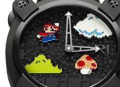 Beautify homage to the 1980 console game from a Swiss luxury brand http://discountwatchstores.com/romain-jerome-realease-super-mario-luxury-watch