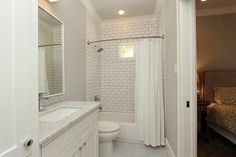 white subway tile walk in shower - Google Search