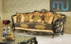 Sofa Mewah Jati Jepara - Furniture Jepara - Furniture Jepara Bedroom Furniture For Sale, Sunroom Furniture, Modern Furniture Online, Royal Furniture, French Furniture, Luxury Furniture, Home Furniture, Furniture Design, Wooden Sofa Set