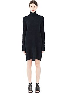 Rick Owens Mohair Roll Neck Sweater