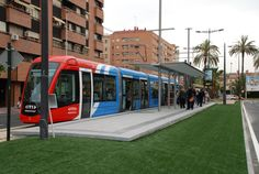 Tranvia de Murcia. Citadis Alstom railway
