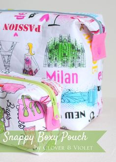 Do you love the look of boxy pouches, but feel intimidated about actually making one? Me too!...