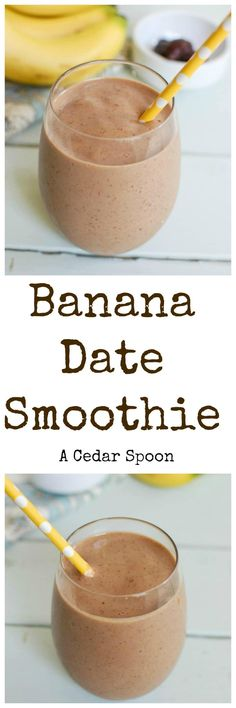 Banana Date Smoothie is my favorite way to start the day. Bananas, dates, milk and greek yogurt make this a favorite.