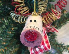 Wine Cork Reindeer Holiday Ornament